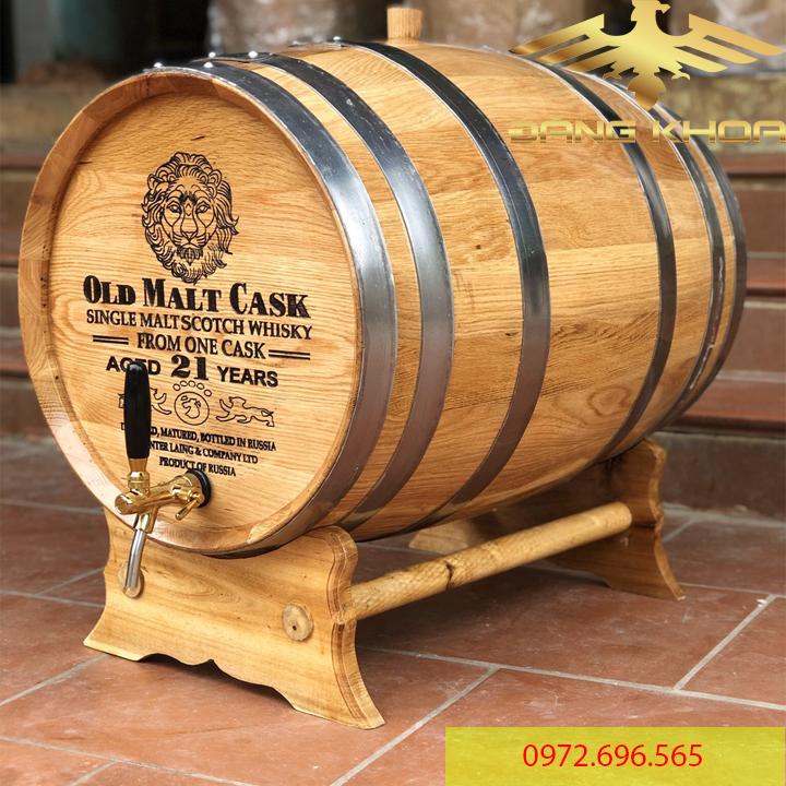 Bán thùng gỗ sồi ủ rượu vang 200 lít