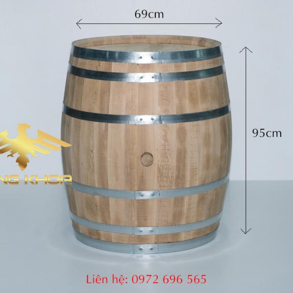 Thùng đựng rượu gỗ sồi 300l