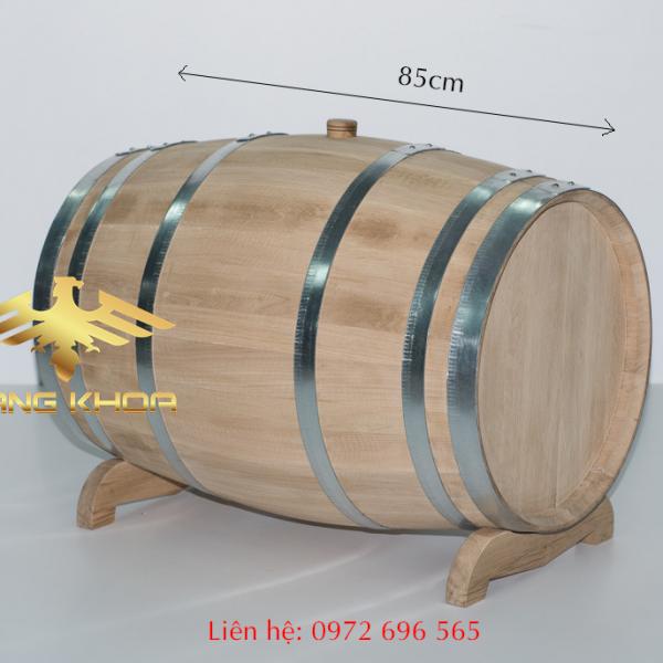 Thùng gỗ sồi ngâm rượu 200l