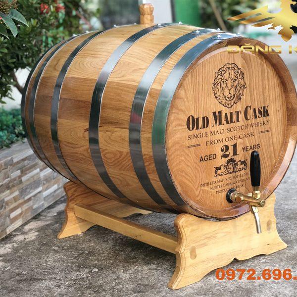 Thùng gỗ sồi nhập khẩu 100l