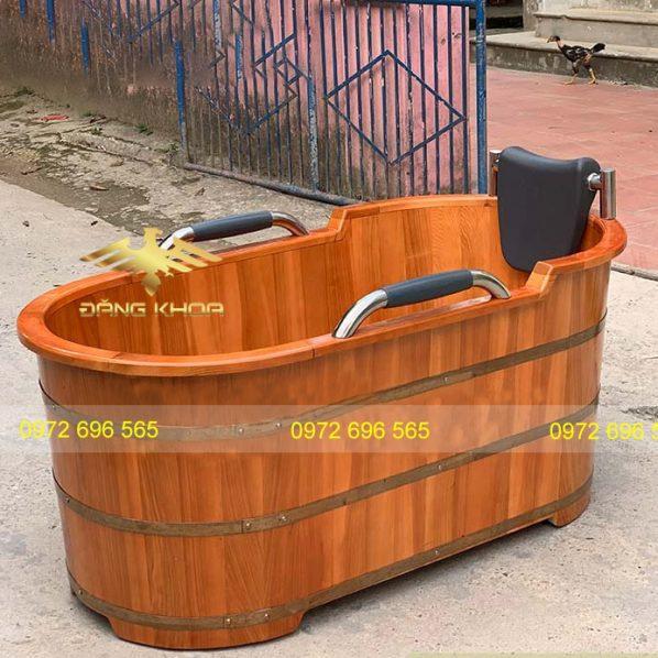 Thùng tắm gỗ thuốc bắc