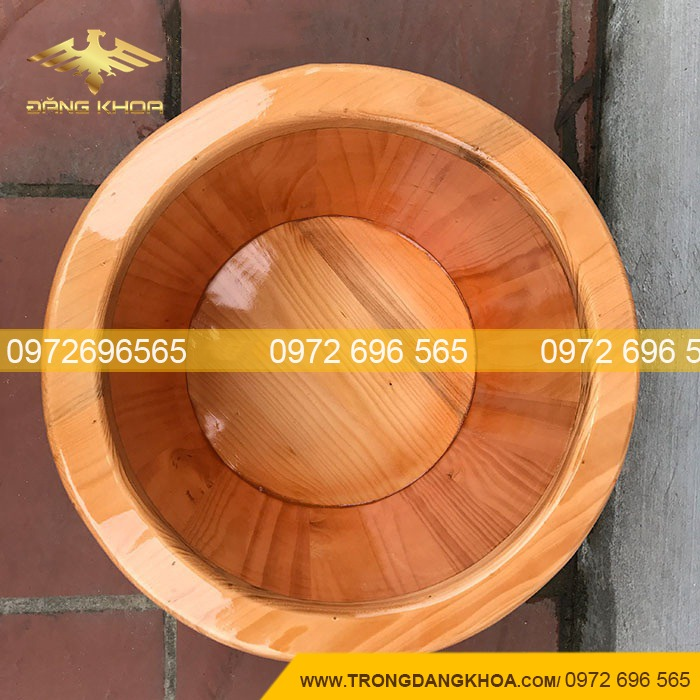 Lòng thùng ngâm chân gỗ thông Nhật bo viền
