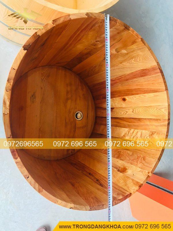 Kích thước bồn tắm gỗ pơ mu phù hợp nhất