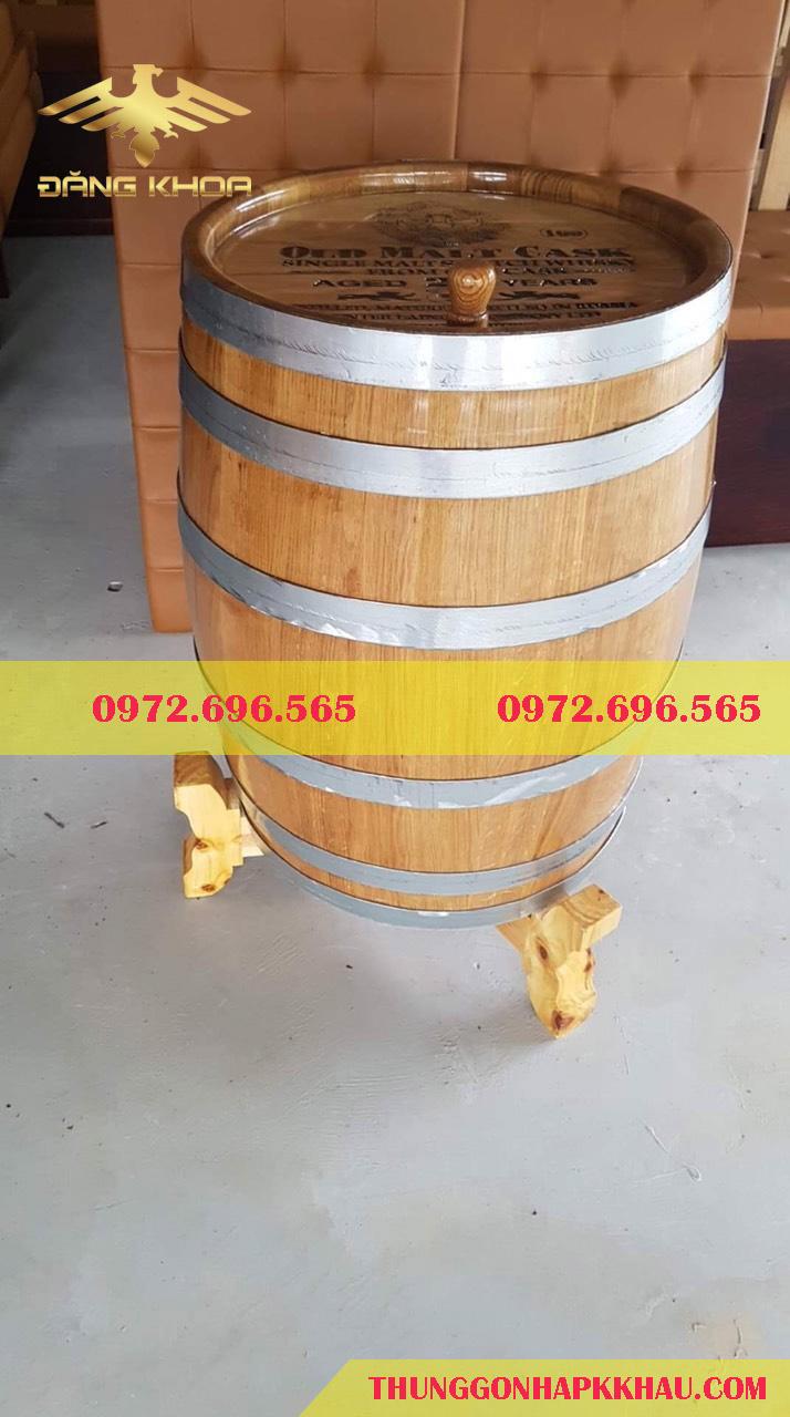 Thùng gỗ ngâm rượu trang trí siêu đẹp siêu rẻ