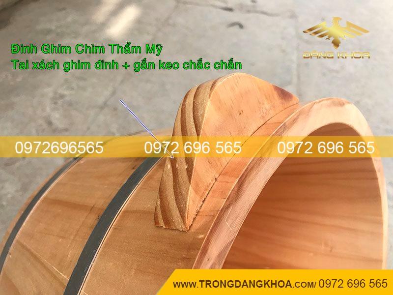 Chậu ngâm chân gỗ Thông