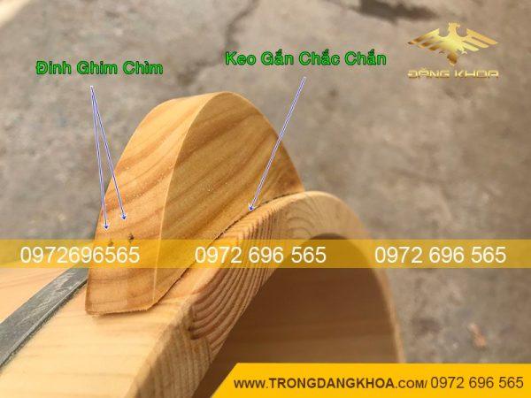 Bề mặt chậu gỗ ngâm chân cao cấp