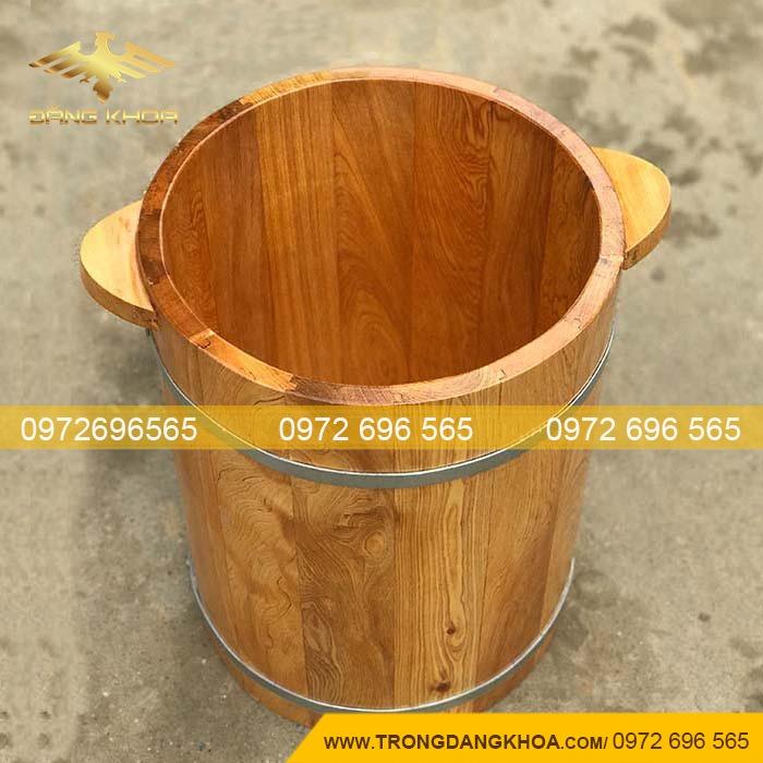 Chậu gỗ ngâm chân thảo dược chuyên dụng