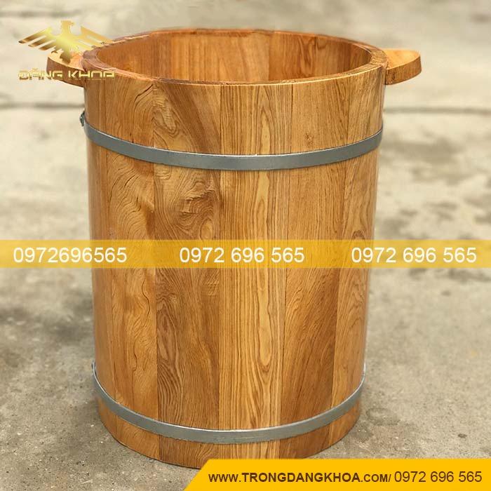 Chậu gỗ ngâm chân thảo dược