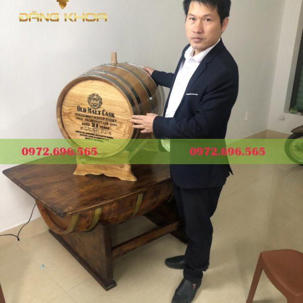 Thùng gỗ ngâm rượu bằng gỗ sồi Đăng Khoa