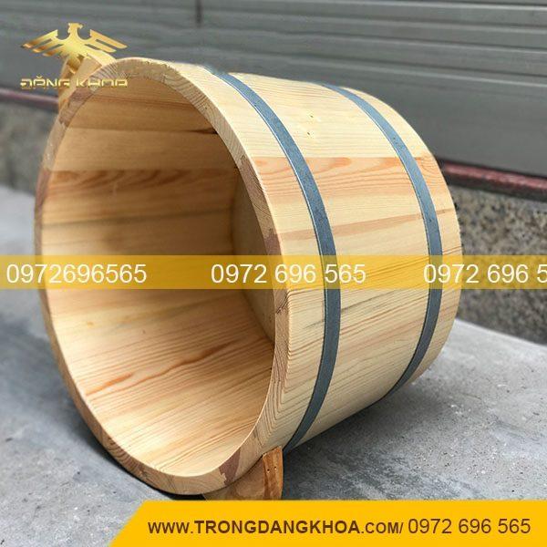 Chậu gỗ ngâm chân gỗ thông trắng