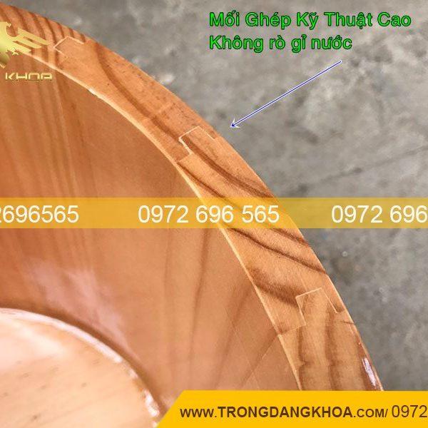 Chậu gỗ ngâm chân bằng gỗ thông chất lượng cao