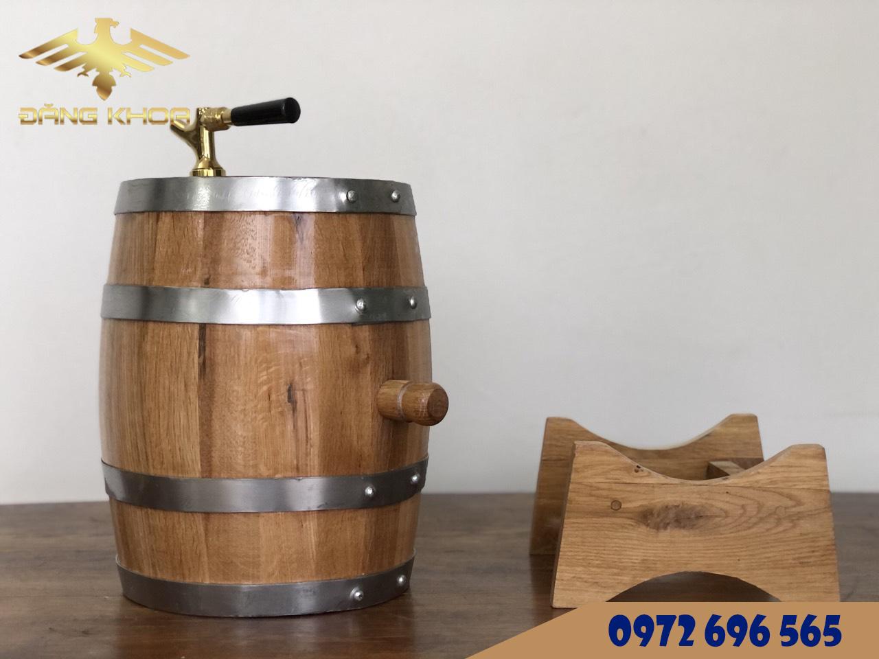 Thùng gỗ sồi Nga 300l