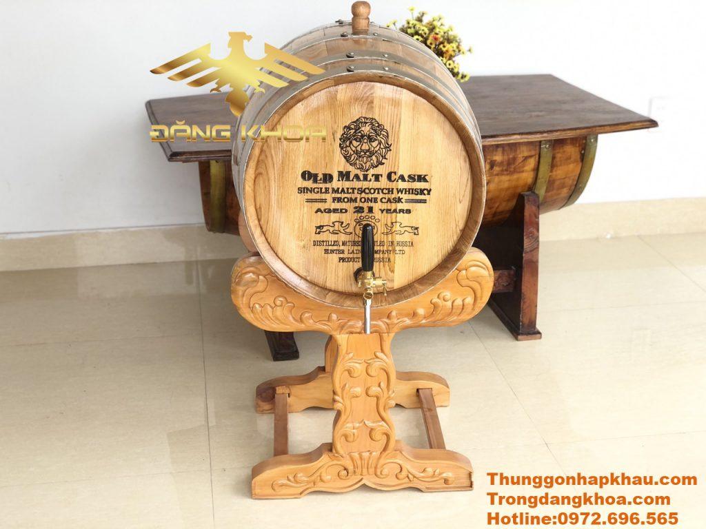 Lợi ích tuyệt vời của thùng ngâm rượu gỗ sồi