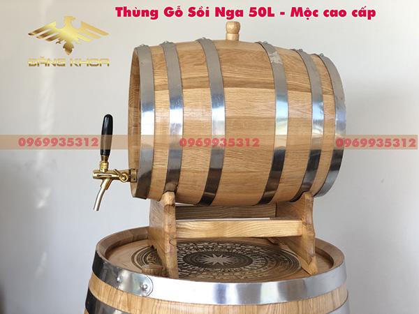 Thùng gỗ đựng rượu 50L