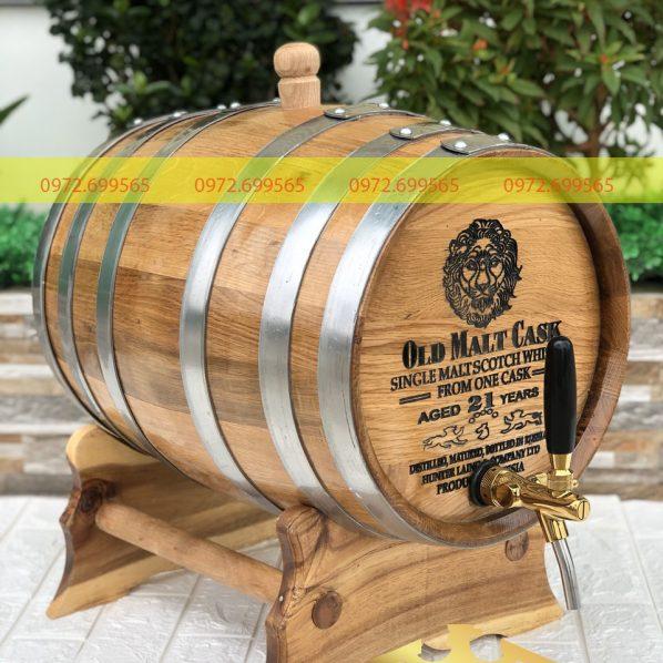 Bán thùng rThùng gỗ sồi Nga 50Lượu gỗ sồi