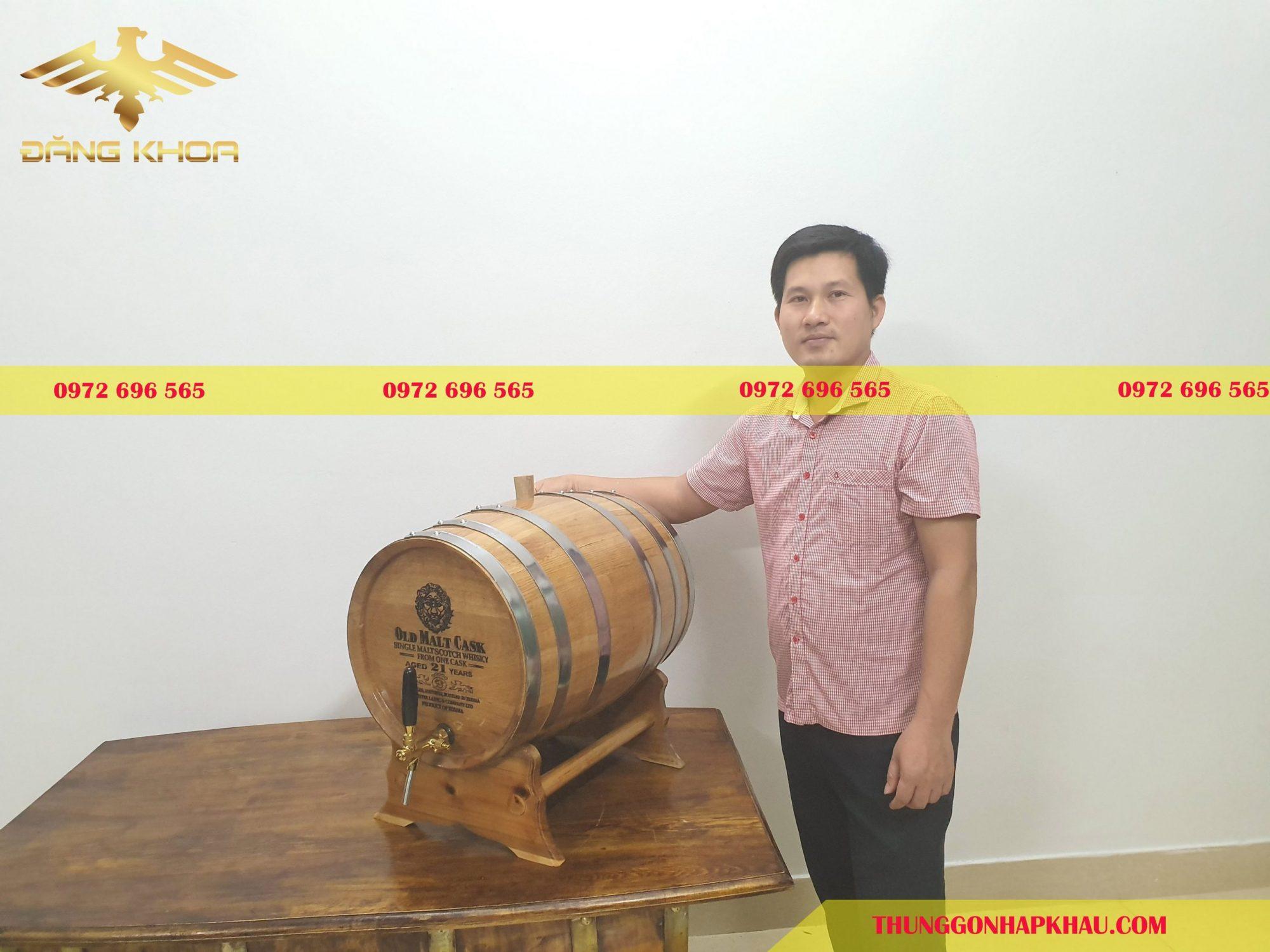 Bán thùng gỗ sồi ngâm rượu giá rẻ tại Hà Nội