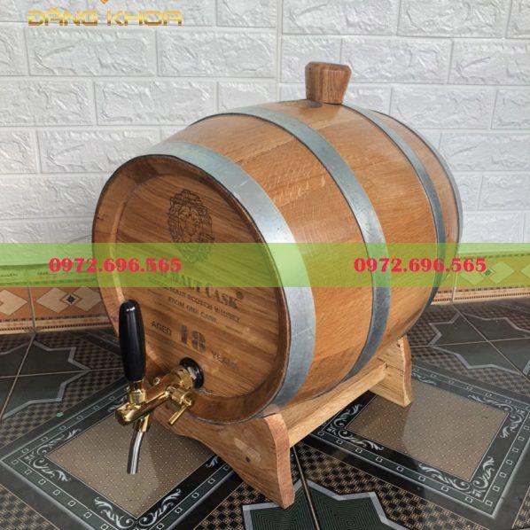 Thùng gỗ sồi 3 đai sắt