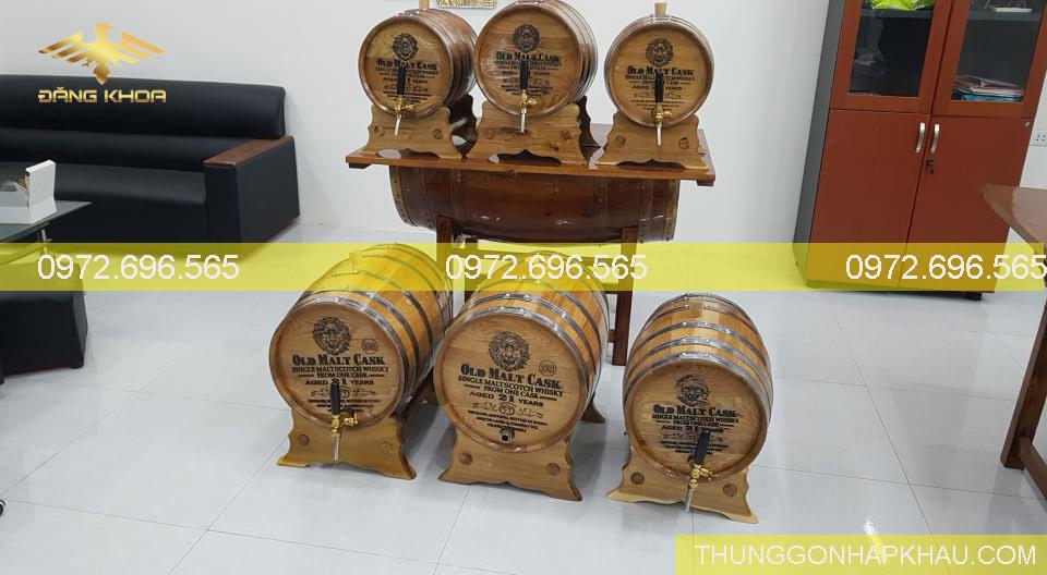 Thùng gỗ sồi 20L,30L, 50L, 100L