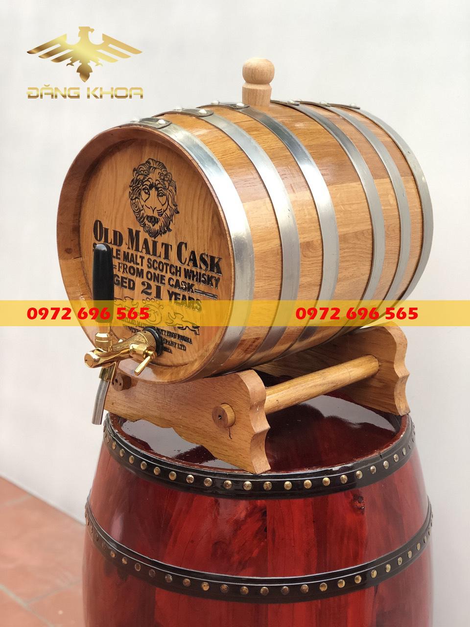 Sản phẩm thùng gỗ sồi 30 lít