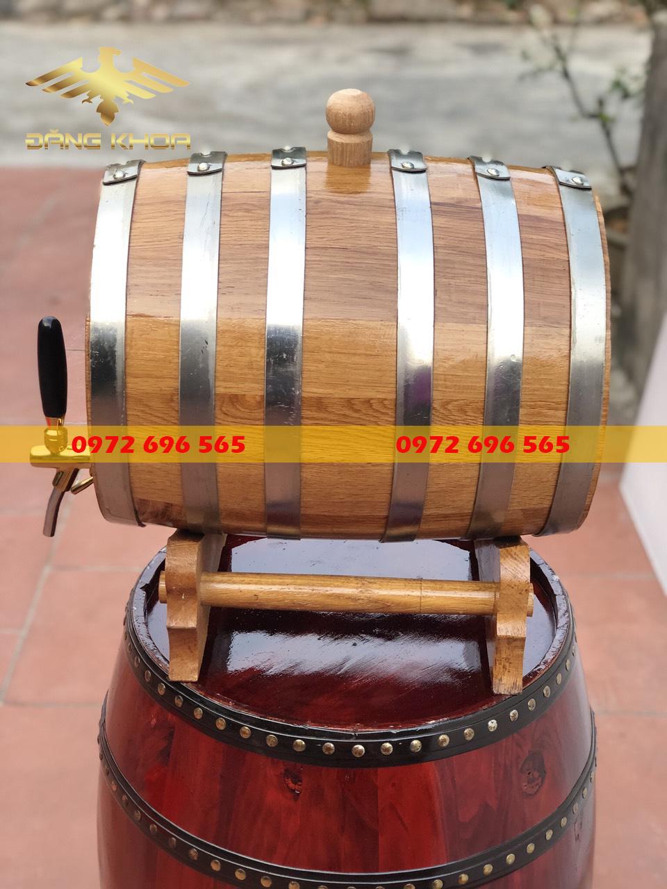 Sự khác biệt giữa thùng gỗ sồi 30 lít và một số thùng gỗ sồi khác như 50 lít, 100 lít.