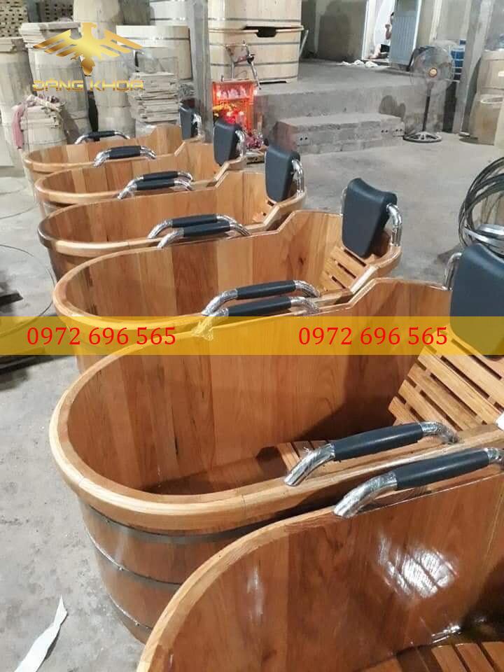 Đặc điểm bồn tắm gỗ pơ mu bo viền 120cm