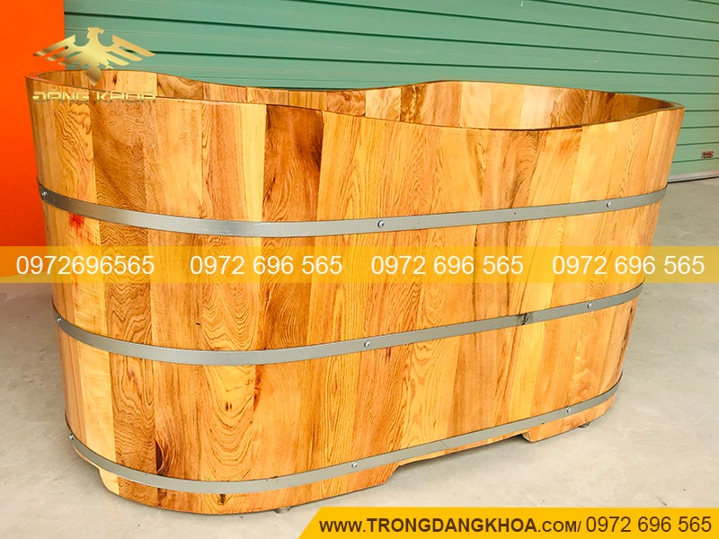 Thông tin chi tiết về bồn tắm nằm gỗ Pơ Mu 120cm