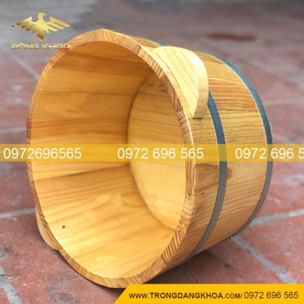 Chậu gỗ ngâm chân làm từ gỗ sồi