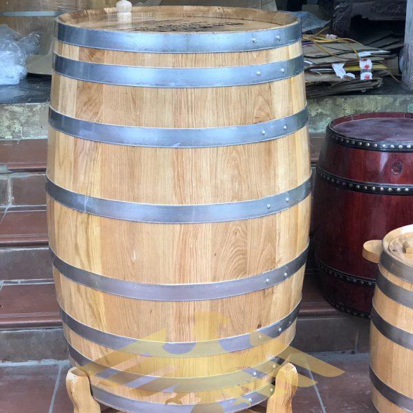 Thùng gỗ sồi ngâm rượu dáng dứng cao cấp 2021