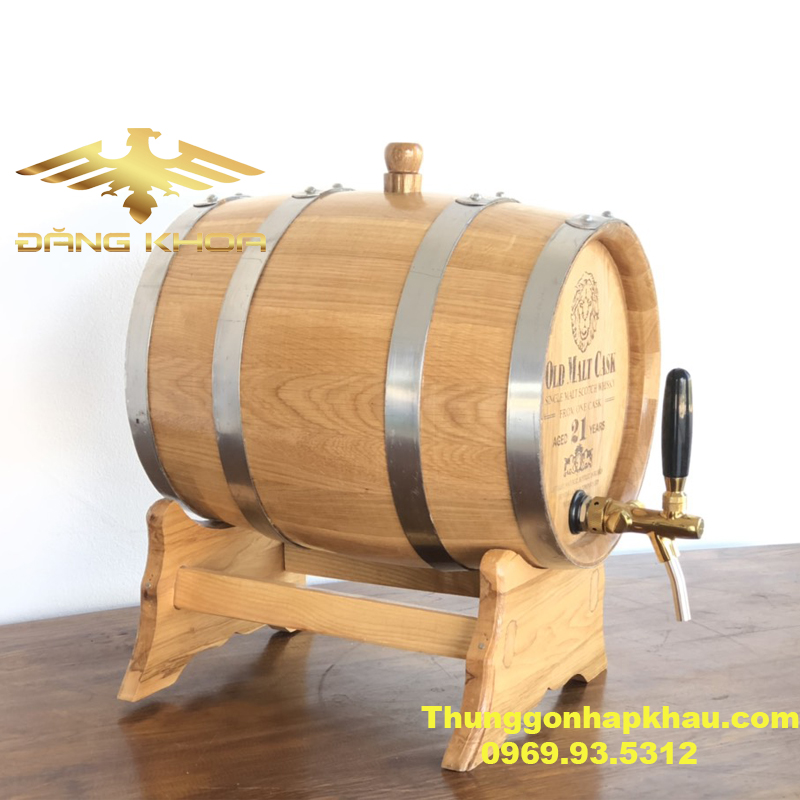 Thùng gỗ sồi Nga 20L