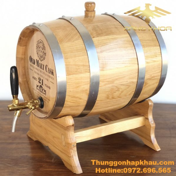 Thùng gỗ sồi đựng rượu 30L