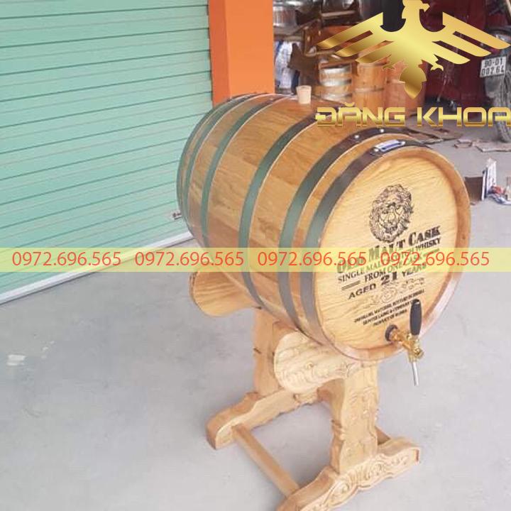 Bán thùng gỗ sồi ủ rượu vang 100 lít