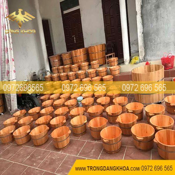 Kiểu dáng, chất liệu của chậu gỗ ngâm chân