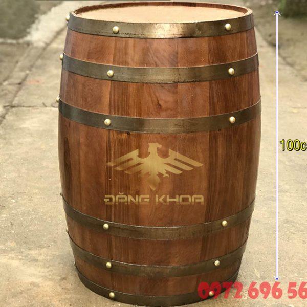Bán thùng gỗ đựng rượu cũ trưng bày 1 mét