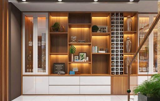 Tủ đựng rượu bằng gỗ cao cấp, hiện đại nhất 2021