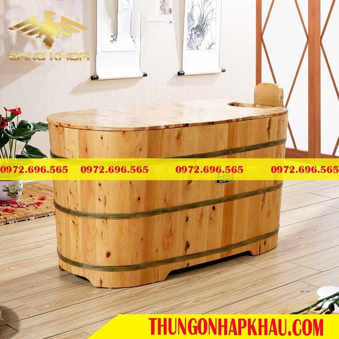 Bồn tắm gỗ cao cấp tay nắm
