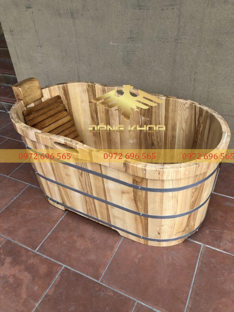 Bồn tắm gỗ Pơ-mu 90cm có giá trị lớn