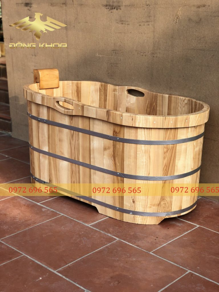 Bồn tắm gỗ thông 2021