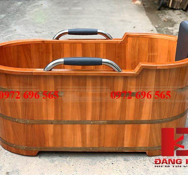 Bồn tắm gỗ Pơ-mu dài 90cm