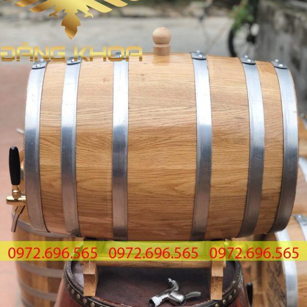 Thùng gỗ sồi 30l