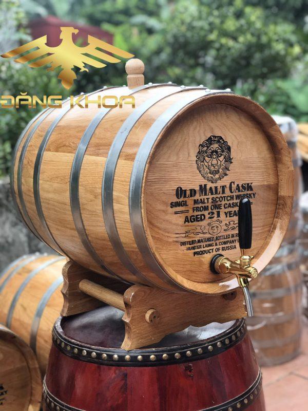 Thùng gỗ sồi ngâm rượu 50L