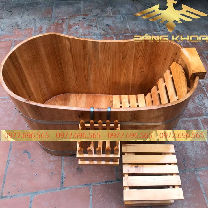 Bồn tắm gỗ cao cấp Pơ Mu