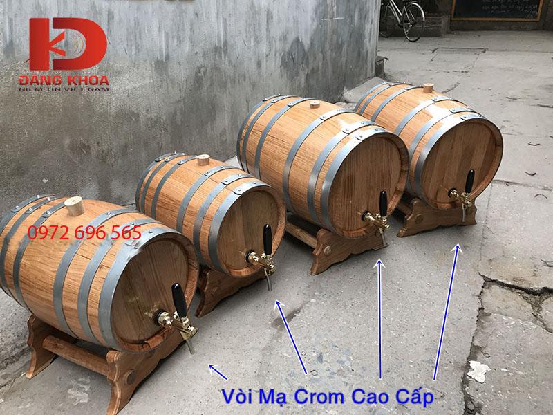 Thùng gỗ đảm bảo sồi chất lượng