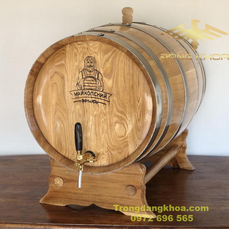 Đặc điểm thùng gỗ sồi ủ rượu 100l