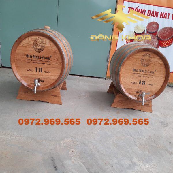 Báo giá các loại thùng ngâm rượu bằng gỗ sồi
