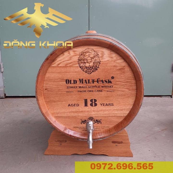 Thùng gỗ sồi nhập khẩu 20l