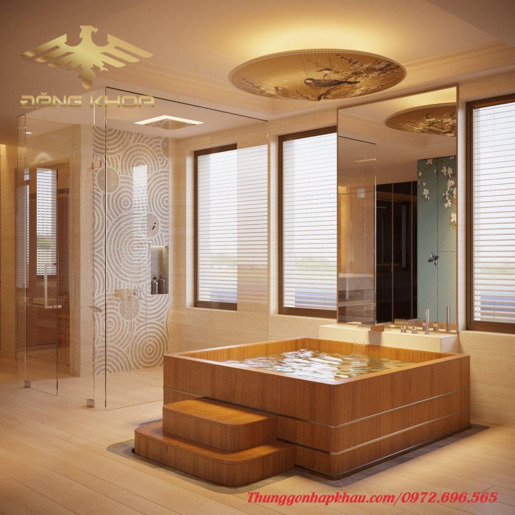 Bồn tắm gỗ HCM đẹp