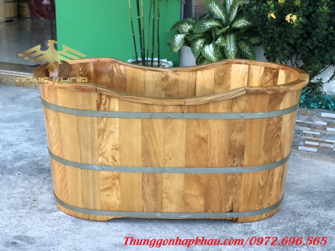 Bán bồn tắm gỗ mặt thẳng