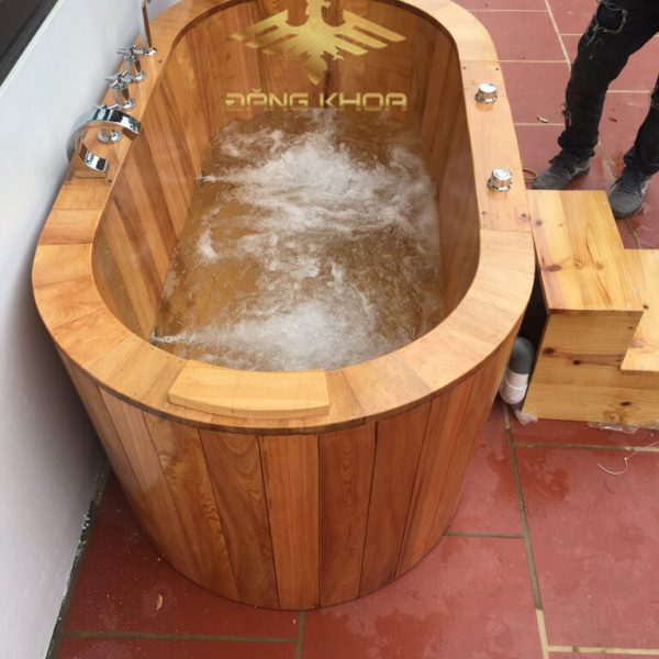 Bồn tắm gỗ sục khí hcm