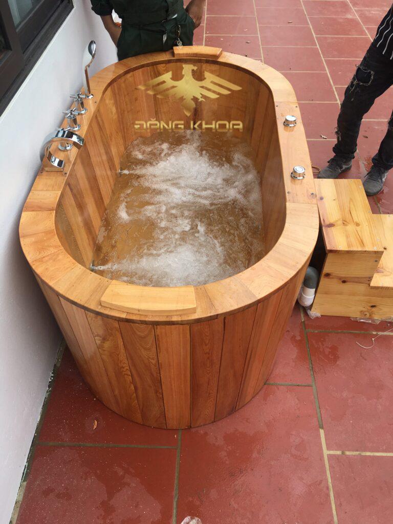 Các loại bồn tắm gỗ chia theo mục đích sử dụng