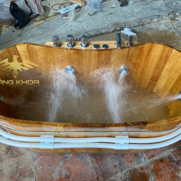 Bán bồn tắm gỗ sục massage 2021